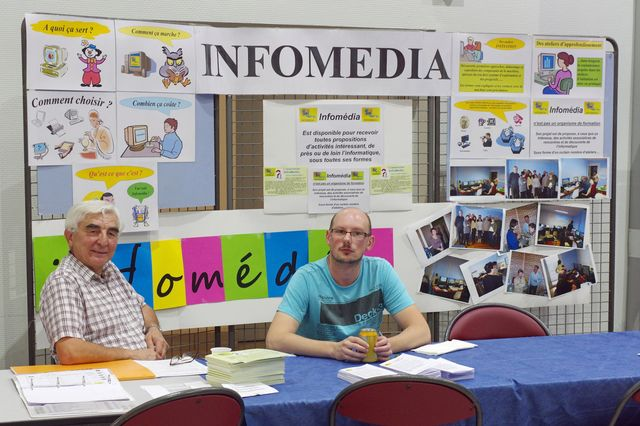 InfoMedia au forum des associations de Saint Just Saint Rambert