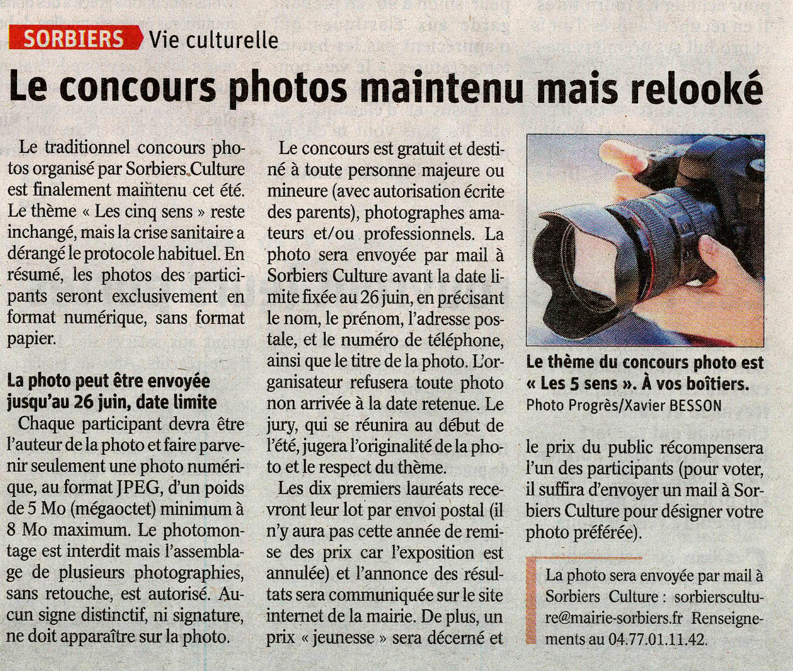 Concours photo Sorbiers